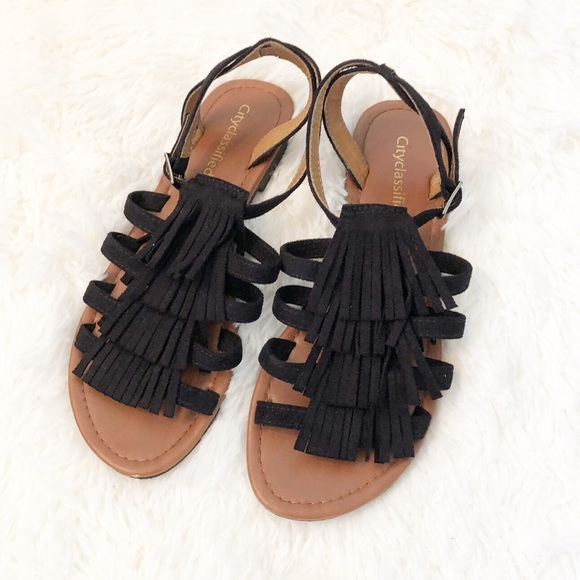 Cityclassified Shoes - City Classified Fringe Sandals